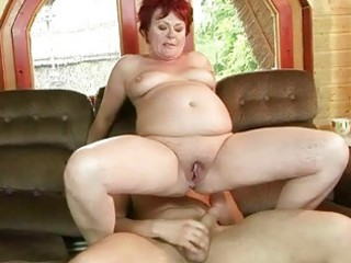 bulky grandma receives her tight pussy screwed