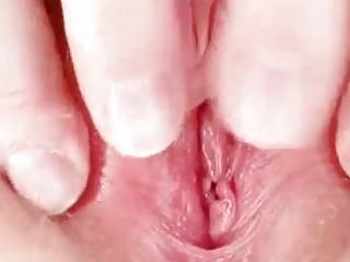 unattractive redhead mom toys her shaggy cum-hole
